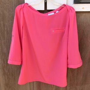 New York & Company boat neck blouse
